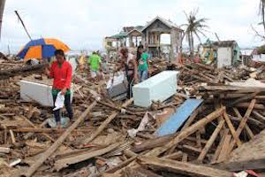Tacloban, aftermath of Hurricane Haiyan/Yolanda.